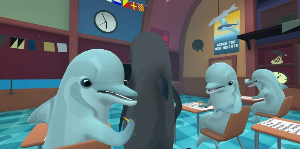 Каталог игр для PS VR №33: Classroom Aquatic