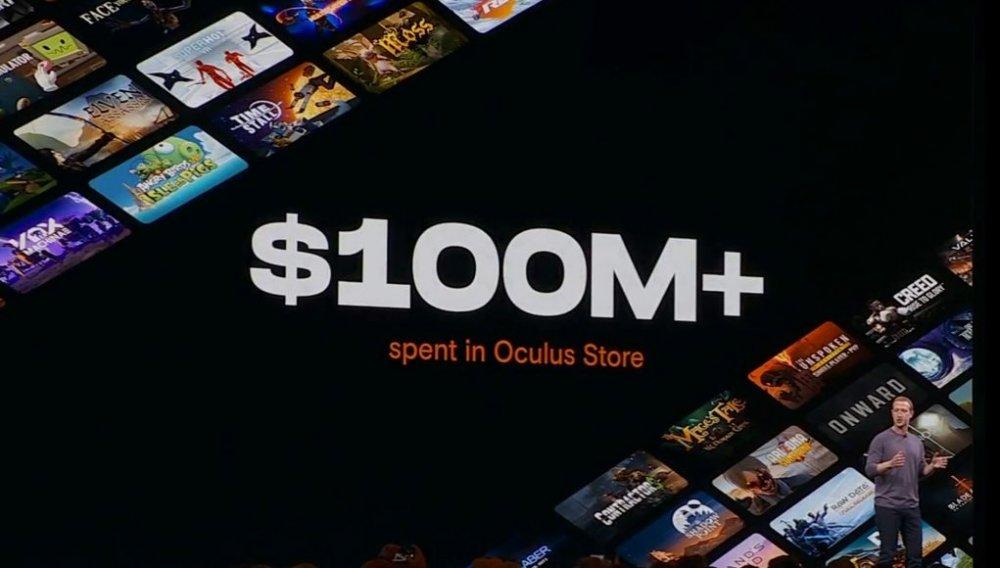 Пользователи потратили более 100 млн долларов на контент в Oculus Store