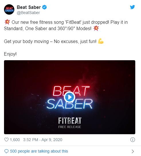 Новый взрывной фитнесс-трек FitBeat вышел с обновлением игры Beat Saber