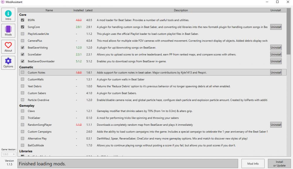 Beat Saber - инструкция по добавлению музыки в игру с помощью Mod assistant